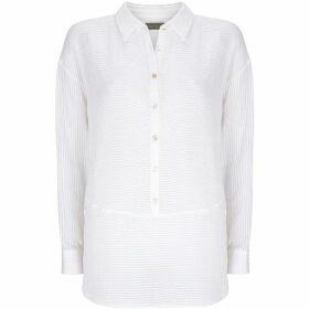 Mint Velvet Ivory Striped Cotton Shirt