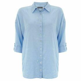 Mint Velvet Blue Embroidered Star Shirt