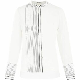 Whistles Maisy Stripe Silk Shirt
