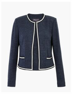M&S Collection Jersey Slim Fit Edge To Edge Blazer