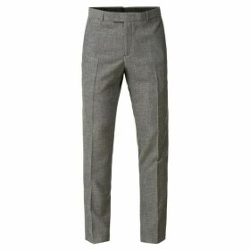 Limehaus Callow Grey Texture Skinny Fit Trousers