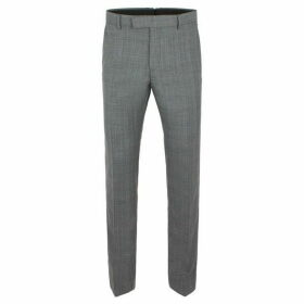Limehaus Warwick Grey Check Slim Fit Trousers