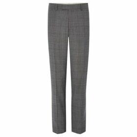 Richard James Guarded Plaid Slim Suit Trouser
