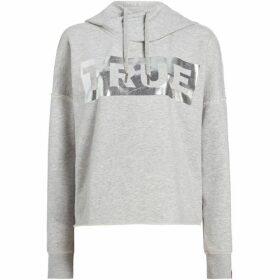 True Religion True Foil Logo Cropped Hoodie