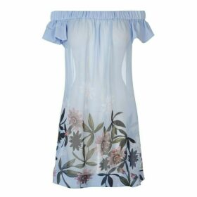 Ted Baker Ted Floral Bardot Dress Womens