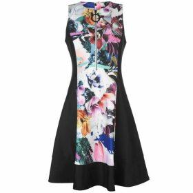 DKNY Floral Zip Dress