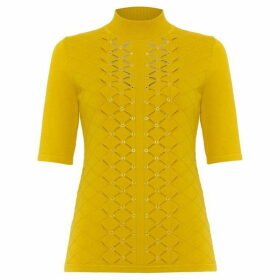 Damsel in a Dress Leona Eyelet Detail Knitted Top