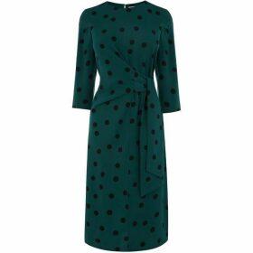 Warehouse Spot Print Dress