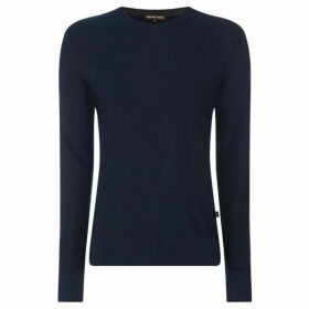 Michael Kors Textured wool mix crew neck jumper
