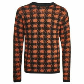 French Connection Mohair Plaid Crew Neck Jumper
