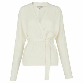 Whistles Tie Front Cotton Cardigan