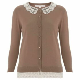 Nougat Hyacinth Collar Cardigan