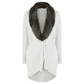Damsel in a Dress Faux Fur Collar Cardigan