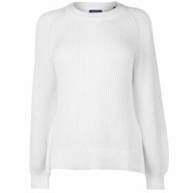 Gant Ribbed Crew Jumper Womens
