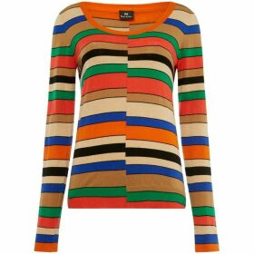 PS by Paul Smith Striped scoop neck jumper