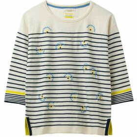 White Stuff Captain Emb Stripe Jumper