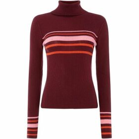 Free People Aspen Turktleneck Striped Jumper