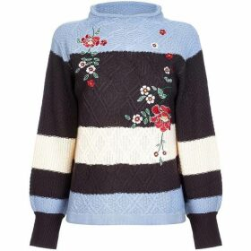 Yumi Floral Embroidered Jumper