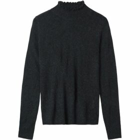 Sandwich Frilled Funnel Neck Jumper