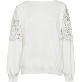 French Connection Ortice Lace Knit Jumper