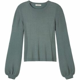 Sandwich Textured Bell Cuff Jumper