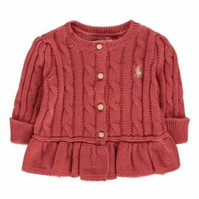 Polo Ralph Lauren Peplum Cable Knit Cardigan