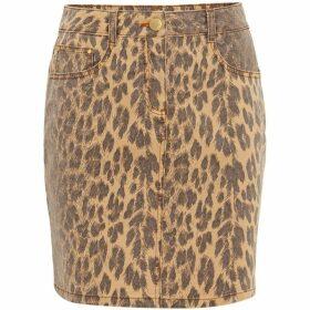 Damsel in a Dress Alexia Leopard Print Denim Skirt