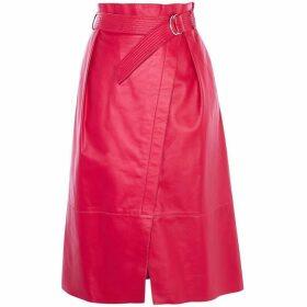 Karen Millen Leather Wrap Skirt