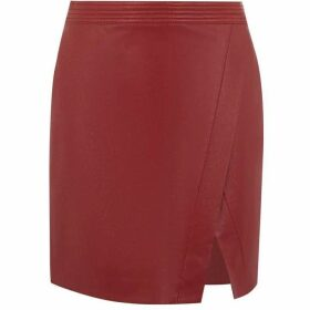 Oasis Wrap Faux Leather Skirt