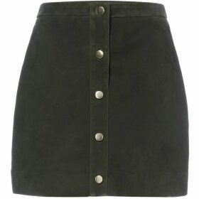Twist and Tango Wanda button suede skirt