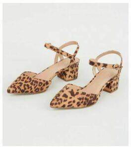 Wide Fit Stone Leopard Print Court Shoes New Look Vegan
