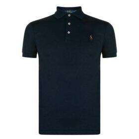 POLO RALPH LAUREN Slim Pima Logo Polo Shirt