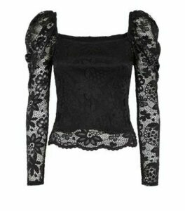 Carpe Diem Black Lace Milkmaid Top New Look