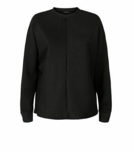 Black Chevron Batwing Sweatshirt New Look