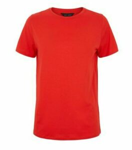 Red Short Sleeve Crew T-Shirt New Look