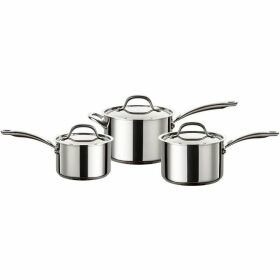 Circulon Ultimum stainless steel saucepan set