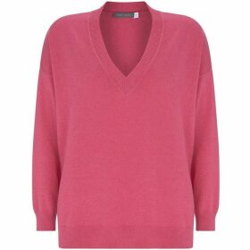 Mint Velvet Cerise V-Neck Boxy Knit