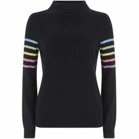 Mint Velvet Navy Multi-Stripe Knit