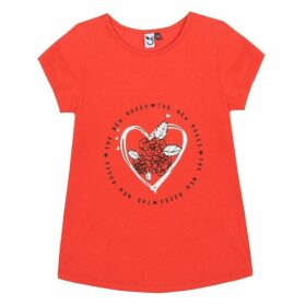 3 Pommes Kid Girl Red Poppy Tee-Shirt