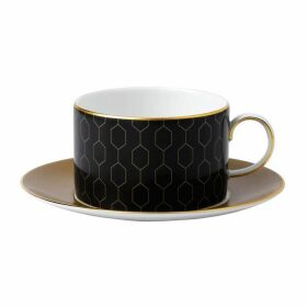 Wedgwood Arris Teacup And Saucer Honeycomb