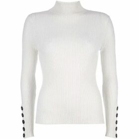 Mint Velvet Ivory Fine Ribbed Knit
