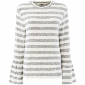 Maison De Nimes Cut and Sew Elm Stripe Bell Sleeve