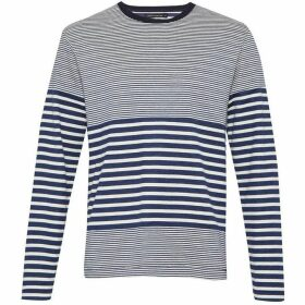 French Connection Double Face Striped Long Sleeved Top