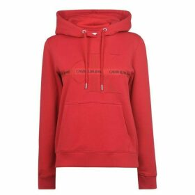 Calvin Klein Jeans Calvin Mono Tape Hoodie - RACING RED
