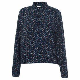 Jack Wills St Bedes Printed Boxy Shirt - Navy
