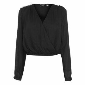 Jack Wills Brasside Textured Blouse - Black