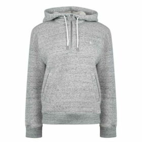 Jack Wills Ordsell Sherpa Lined Pop Over Hoodie - Grey Marl