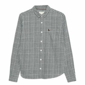 Jack Wills Homefore Classic Fit Checked Shirt - Black