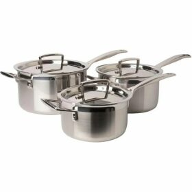 Le Creuset 3-Ply Stainless Steel Saucepan Set