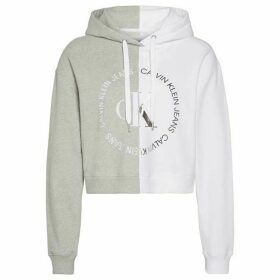 Calvin Klein Jeans Round CK Hoodie - Light Grey Hthr